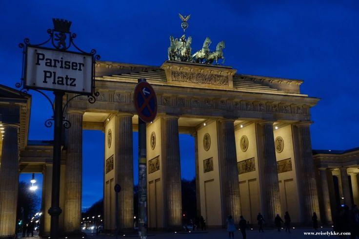 Brandenburger Tor på kveldstid