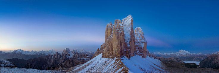 Amazing winter view of Tre Cime di Lavaredo - Auronzo di Cadore #auronzomisurina #dolomites #holidays
