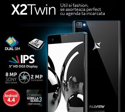 Castiga un smartphone X2 Twin! Prin inscrierea in concurs primesti GARANTAT un voucher de 150 lei!