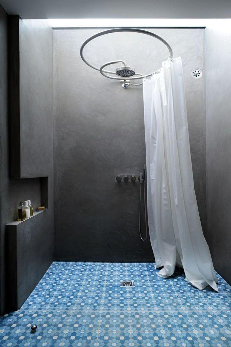 rideau-de-douche-petite-salle-bains-carrelage-sol-peinture-grise.jpg (750×1127)