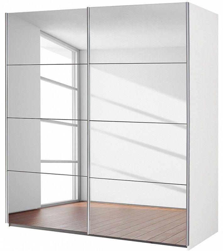 Armoire Coulissante Miroir Armoire 2 Portes Coulissantes 136 Avec