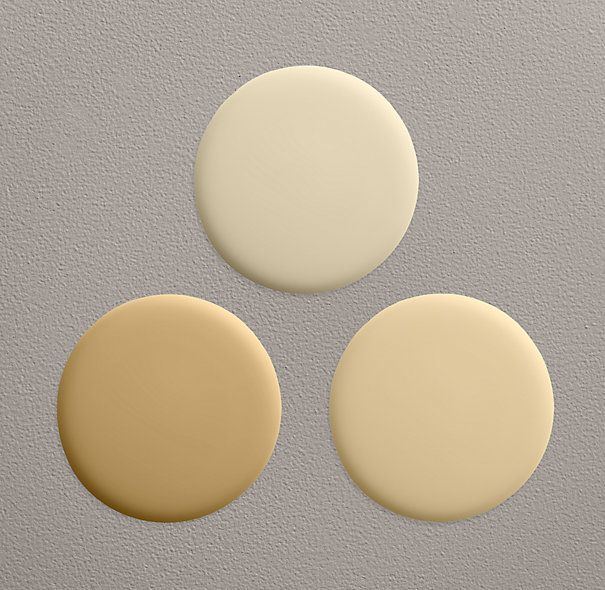 butter paint collection from restoration hardware top buttercream right butter left