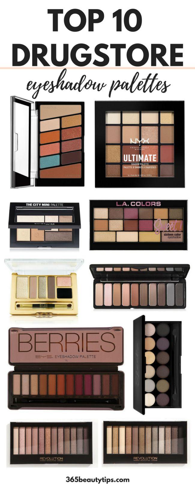 Top 10 drugstore eyeshadow palettes