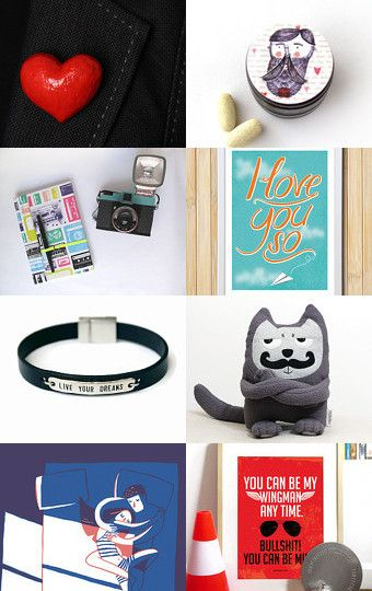 Valentine for Him by Mandarina on Etsy--Pinned with TreasuryPin.com