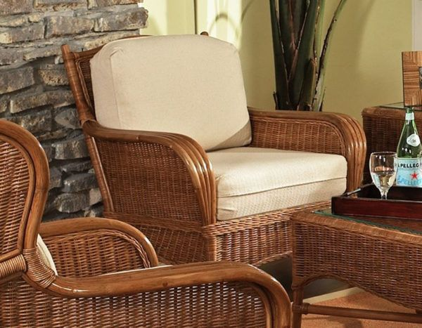 Bodega Bay Rattan Wicker Lounge Chair From Classic Rattan Model