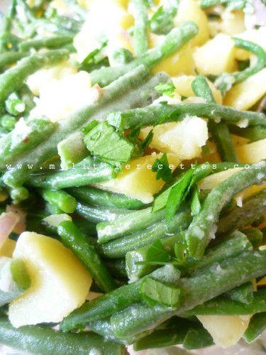 recette : salade de légumes nouveaux pomme de terre et haricots verts à la moutarde