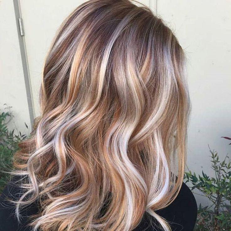 Haarfarben Blond mit Strähnen 2018 (mit Bildern