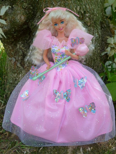 Butterfly Princess Barbie 1994. Remember the butterflies would move when you put her magic wand in front of them? HAD HER <3