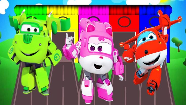Learn Colors with Super Wings Colours for Children and Toddlers Learning...