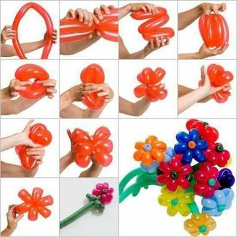 Ramo de flores con globos