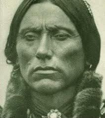 close up of Quanah Parker, the last Comanche chief, son of a Commanche brave and a kidnapped white girl named Cynthia Ann Parker, taken at age 9 from Ft. Parker in Mexia, TX. The fort still stands and can be toured today.