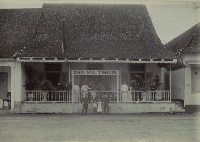 Christelijk Militair Tehuis te Soerabaja 1900 (Collectie Indisch Herinneringscentrum)