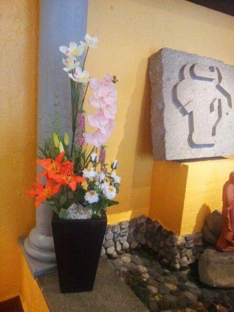 Elegante dise o floral artificial decora tu casa oficina - Arreglos florales artificiales para casa ...