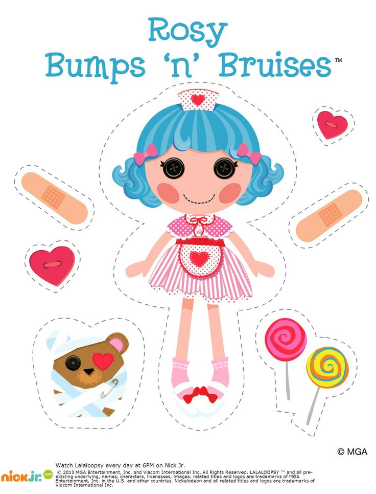 Free Rosy Bumps 'n' Bruises printable on Nick Jr