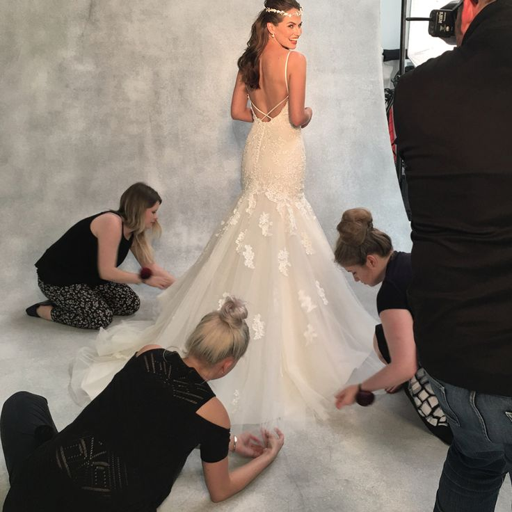 The sensational 'Mischa' fishtail gown by Viva Bride ✨✨Finished at the back with delicate crossover straps and crystal buttons ✨✨ http://bit.ly/VB-Mischa