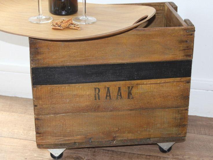 Caisse en bois vintage- Caisse à boissons