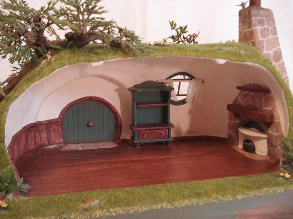 how to make a miniature hobbit house
