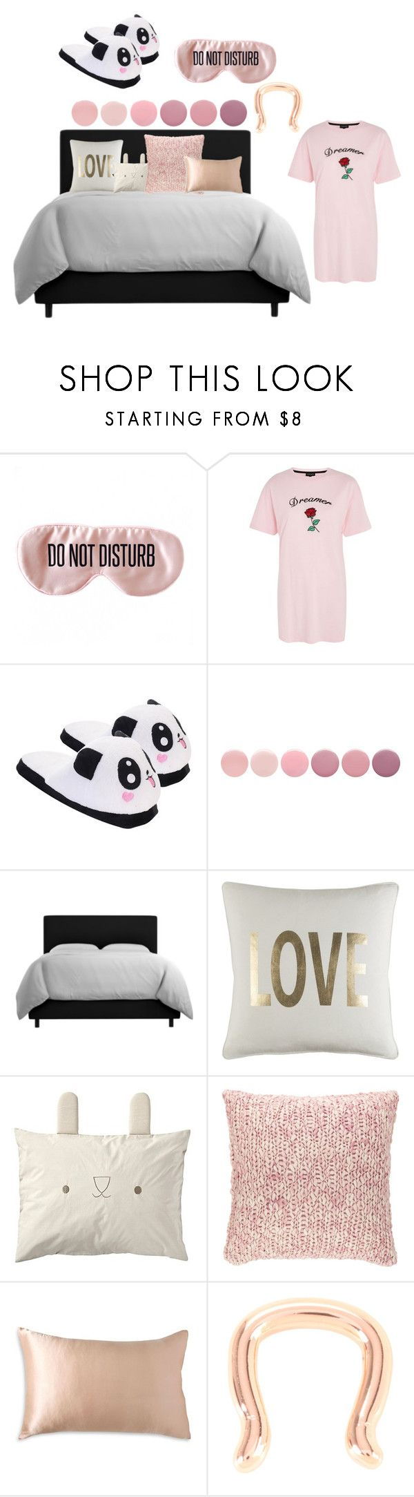 """ZZZ"" by daquashiasalaam ❤ liked on Polyvore featuring BaubleBar, Topshop, Deborah Lippmann, Pine Cone Hill, Donna Karan and Hot Topic"