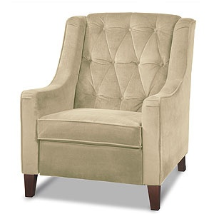 Coffee Victoria Velvet Tufted High Back Chair $399.99