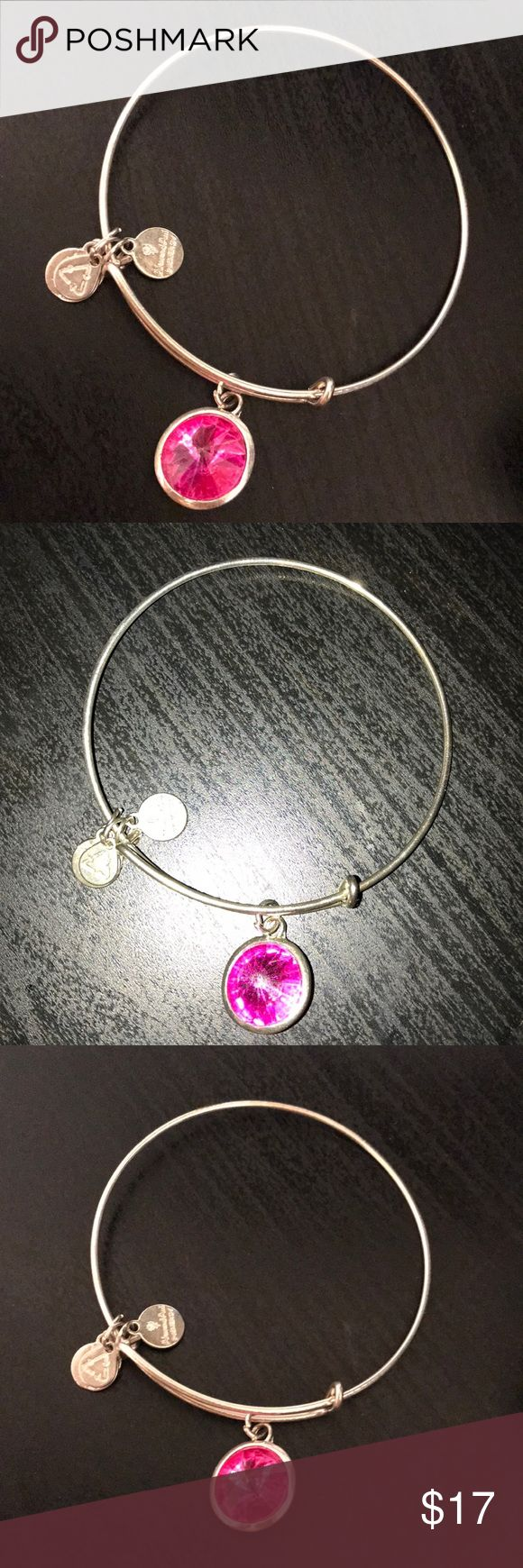 Alex and Ani bracelet It is the October gemstone. Prices are negotiable! It was worn only twice! Alex & Ani Jewelry Bracelets