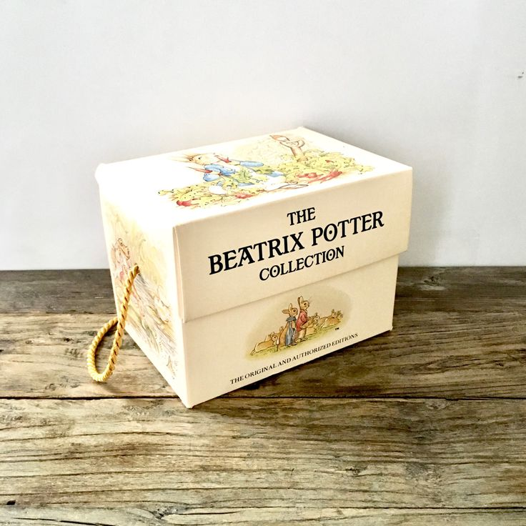 Beatrix Potter Book Set 1 -12  / Lot series of Peter Rabbit Books / Beatrix Potter in original box set by EllasAtticVintage on Etsy