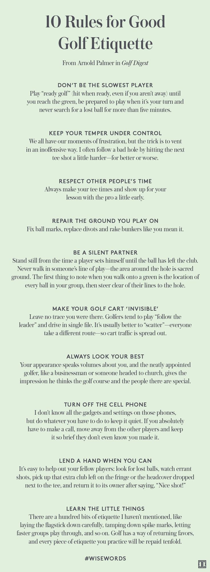10 Rules for Good Golf Etiquette