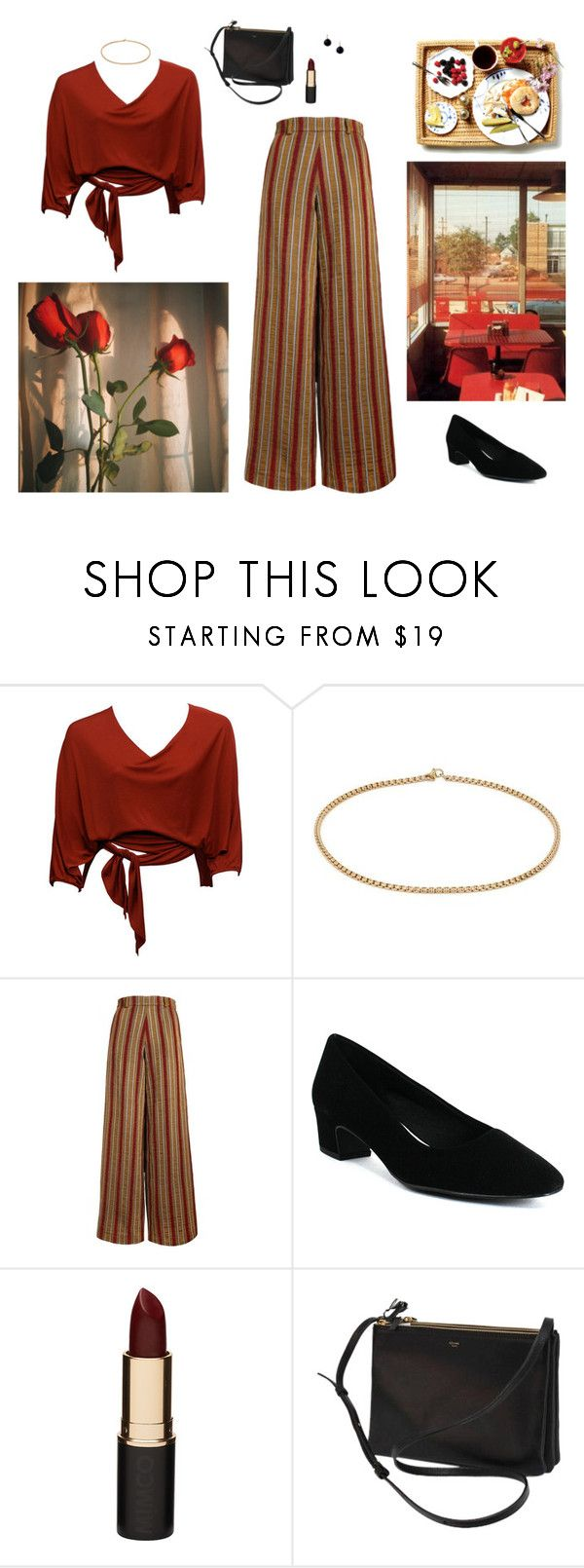 """""""Untitled #106"""" by cizinec ❤ liked on Polyvore featuring The Bee's Sneeze, Easy Street, Mimco, CÉLINE and Coralia Leets"""