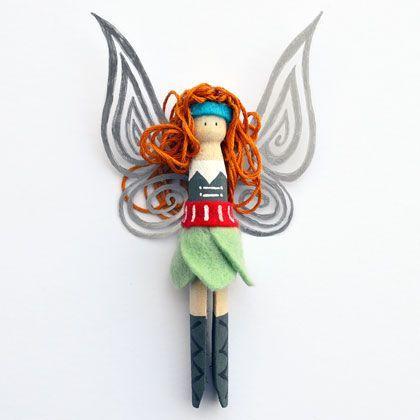 Meet Zarina - Tinkerbell's new Pirate Fairy Friend. Clothespeg Doll Craft | MollyMooCrafts.com