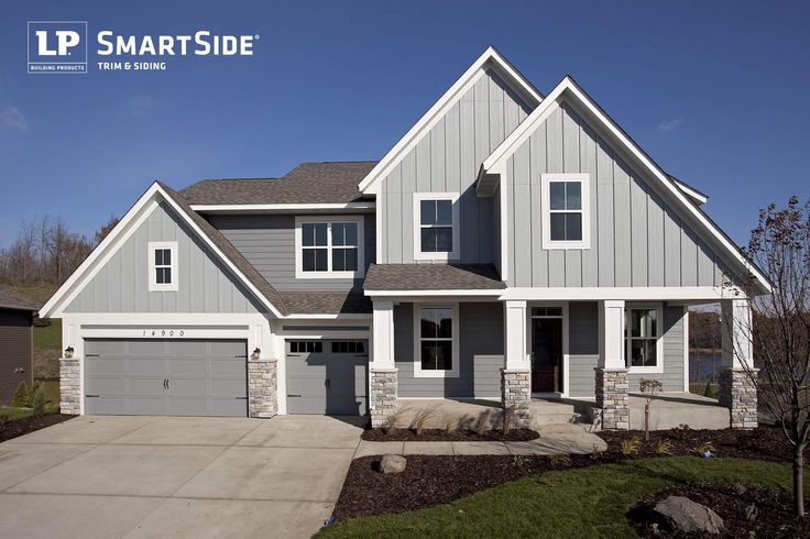 7 Popular Siding Materials To Consider: LP SmartSide Lap Siding, Panel Siding And Trim On A House