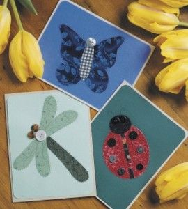 Button bugs handmade cards paper crafts butterfly for Country woman magazine crafts