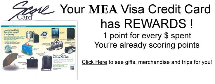 MEA FCU - VISA® ScoreCard® Rewards