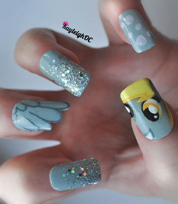 Derpy Hooves Nails! i think id be too annoyed to wear them though...