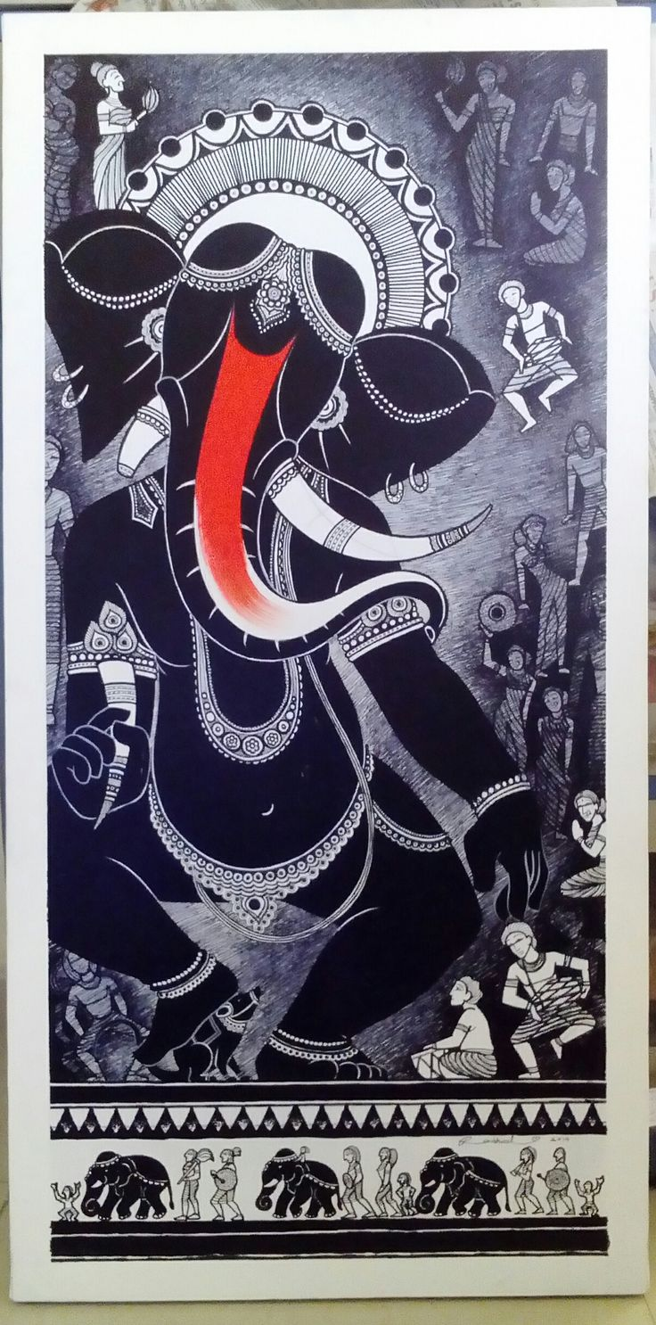illustration-painting-marker-ganesha