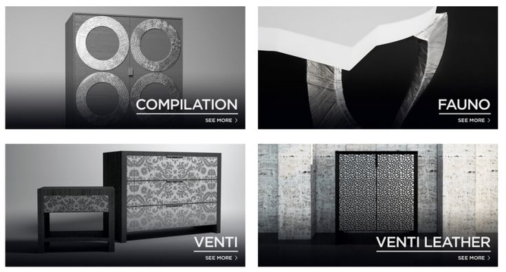 quattro differenti #collezioni di #mobili create da #fabio #masotti