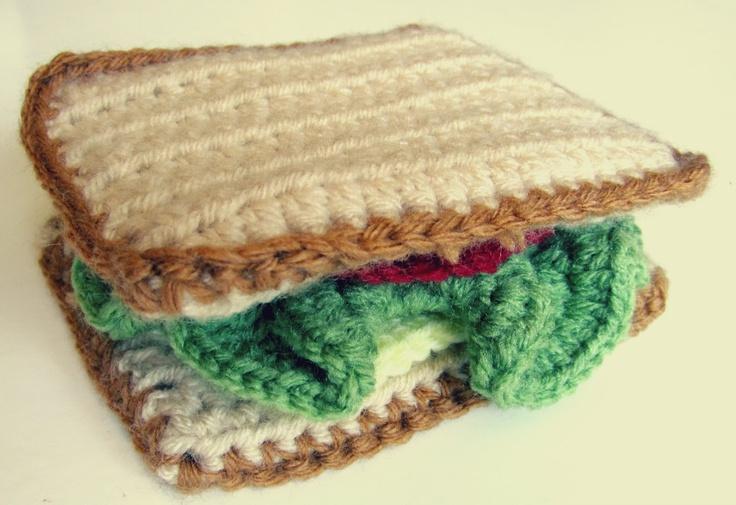 Free Crochet Sandwich Pattern! Cute! I love fabric food.