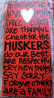 I need this in my front porch! <3 HuskersCrafts Ideas, Team Signs, Buckeyes, Cute Ideas, Future House, House Rules, Big Red, Creative Genius, Genius Art