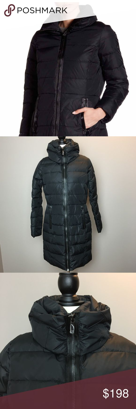 DVF $498 hooded black puffer jacket Brand new, super warm winter coat. Has hood that rolls into collar. DVF metal logo on arm, inner lining. Perfect for everyday wear this winter! This was a Christmas gift, from Nordstrom but no receipt. Comes in original plastic packaging all zippers remain covered in perfect condition! Size SMALL Diane Von Furstenberg Jackets & Coats Puffers