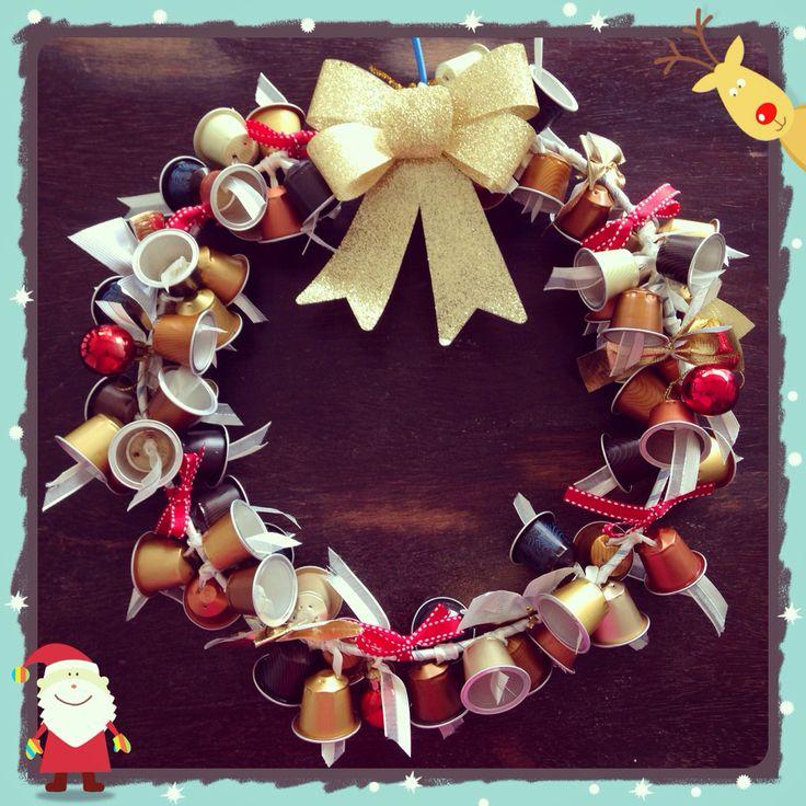 Nespresso wreath! Guirlanda de nespresso!