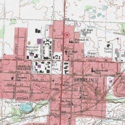 Oberlin Ohio Oberlin Usgs Topographic Map By Mytopo