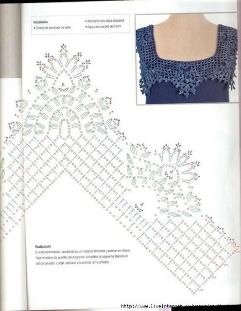 49 best Cuellos en crochet/ Crochet collars images on Pinterest ...