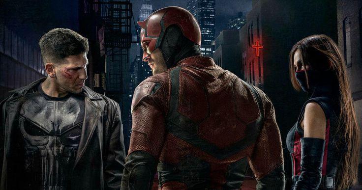 Punisher Skull Costume Revealed in 'Daredevil' Season 2 Poster -- The latest sneak peek at 'Daredevil' Season 2 offers a look at Elektra in her full costume standing alongside Matt Murdock and Frank Castle. -- http://movieweb.com/daredevil-season-2-poster-punisher-skull-costume/