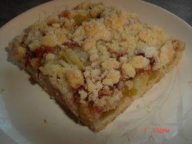 My Recipe Favorites: Rhubarb Platz ( a Mennonite Rhubarb Square )
