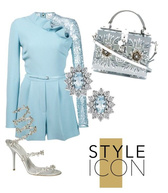 """""""engangement party"""" by distressqn on Polyvore featuring Elie Saab, Rene and Dolce&Gabbana"""
