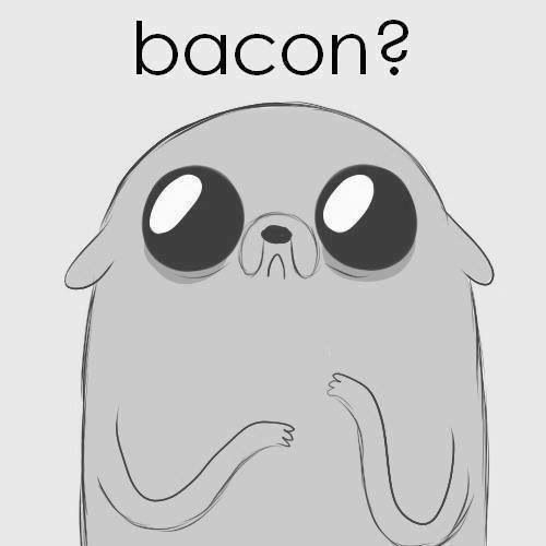 Yes. For you, dear adorable thing, bacon. You shall have much bacon to compensate for your adorable-ness. You can have the bacon. All the bacon. Even though I'm a vegetarian. You may have bacon. Feast upon it with pancakes.