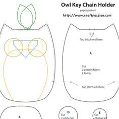 Owl pattern - it's for a key chain holder, but looks like it would be the perfect size for a hand puppet.