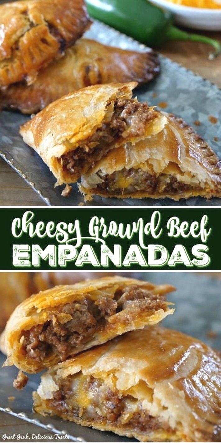 Cheesy Ground Beef Empanadas Recipe Meat Recipes Beef Recipes Easy Recipes