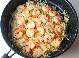Garlic Parmesan Shrimp Scampi Pasta | The Cooking Insider