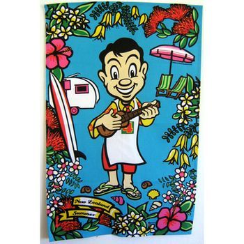 New Zealand Mr 4 Square Summer Ukulele Tea Towel