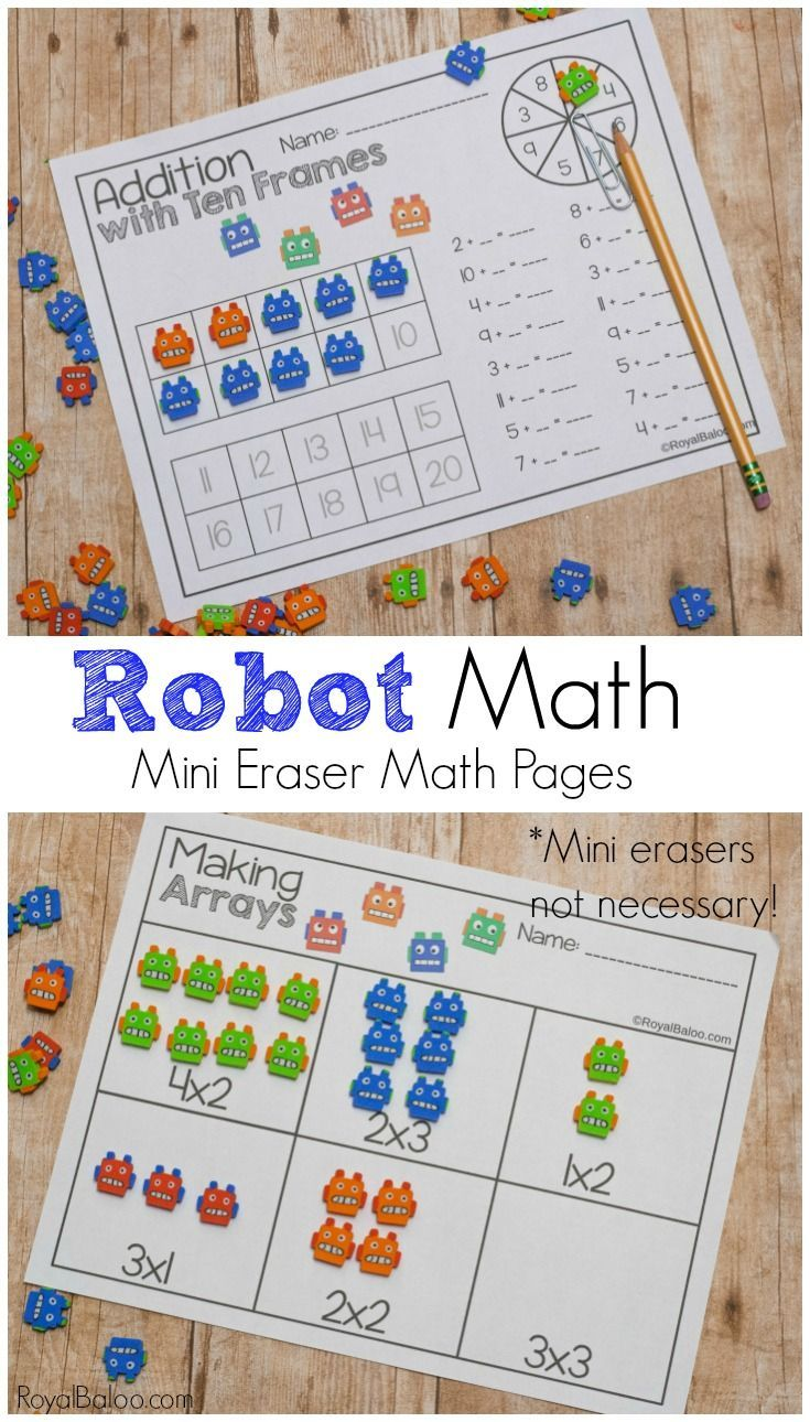Mini Erasers Are A Great Way To Get Your Kids Excited About Math! Use These