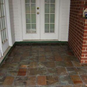 diy porch remodeling guide reusing antique roofing slates as flooring material mnn mother